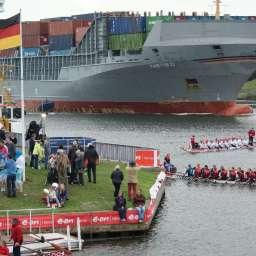 12. Drachenboot Fun-Cup im Kreishafen Rendsburg am 14. September 2013