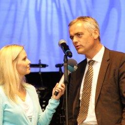 Eröffnung mit Innenminister Andreas Breiter, im Interview mit Maike Jäger