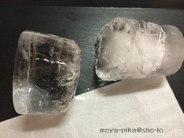 家庭で作った透明な氷