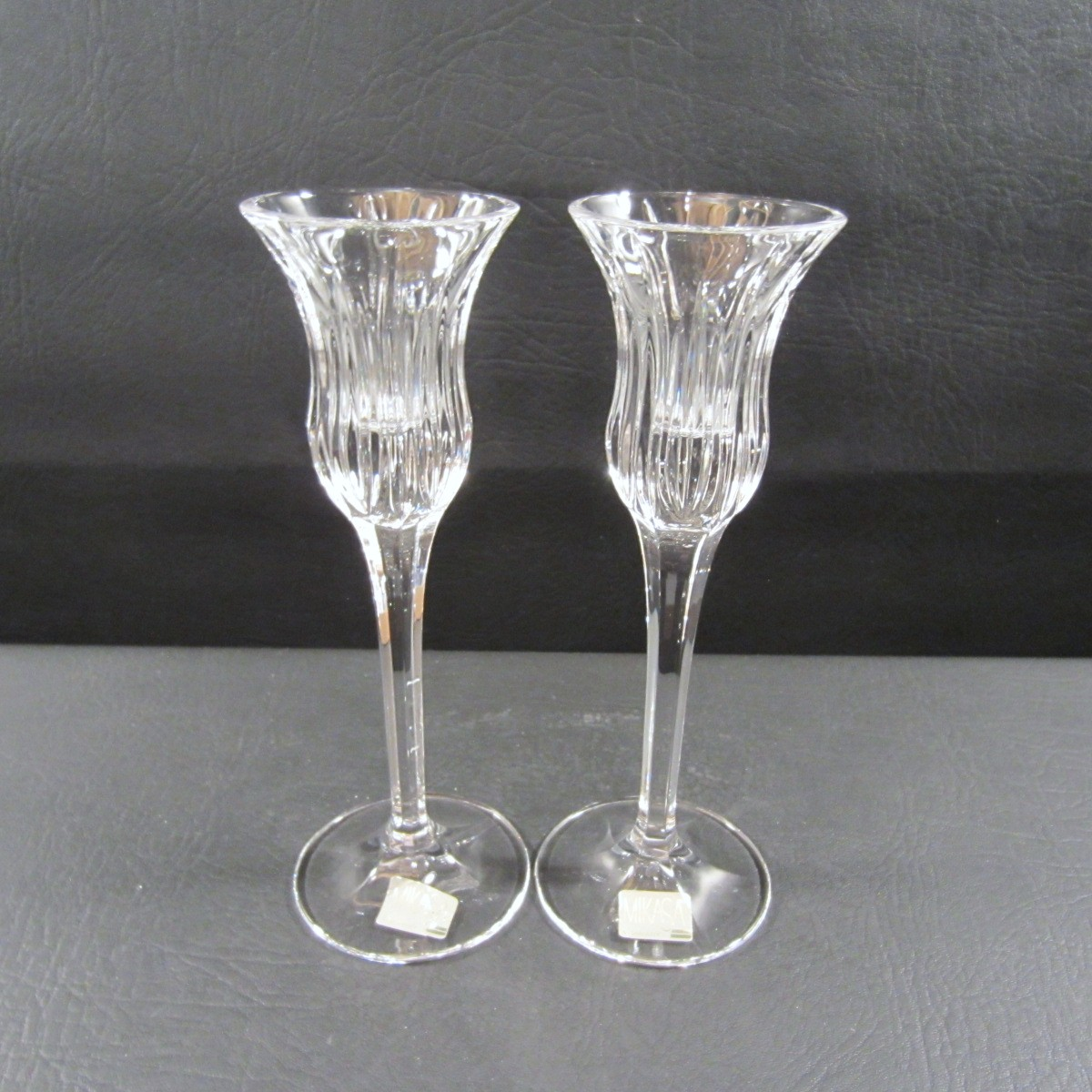 Mikasa Crystal 8 Inch Cut Stemmed Cordial Glasses