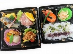 二段旬菜弁当 1200円(税別)