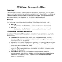 Sales Commission Plan