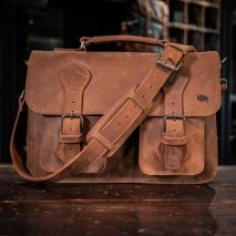 mens-rugged-leather-briefcase-bag-denver-sienna-brown-front-view