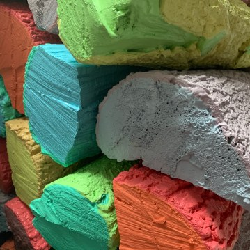 Rebecca Duke Bennett Over the Rainbow Casting foam and house paint size variable 2013 http://rebeccabennettduke.com/