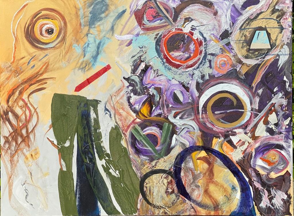 """IN PROGRESS 11/26/20 Acrylic, medium on canvas 30"""" x 40"""""""