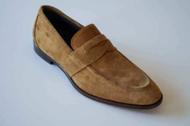 One of the penny loafer samples.