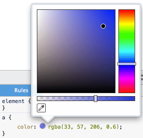 Color editor in Firefox