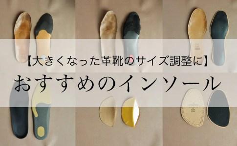 革靴におすすめのインソール・中敷き6選【大きい靴・ビジネスシューズ】