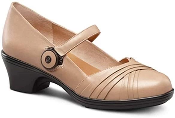 Dr. Comfort Women's Cindee Black Diabetic Heeled Dress Shoes