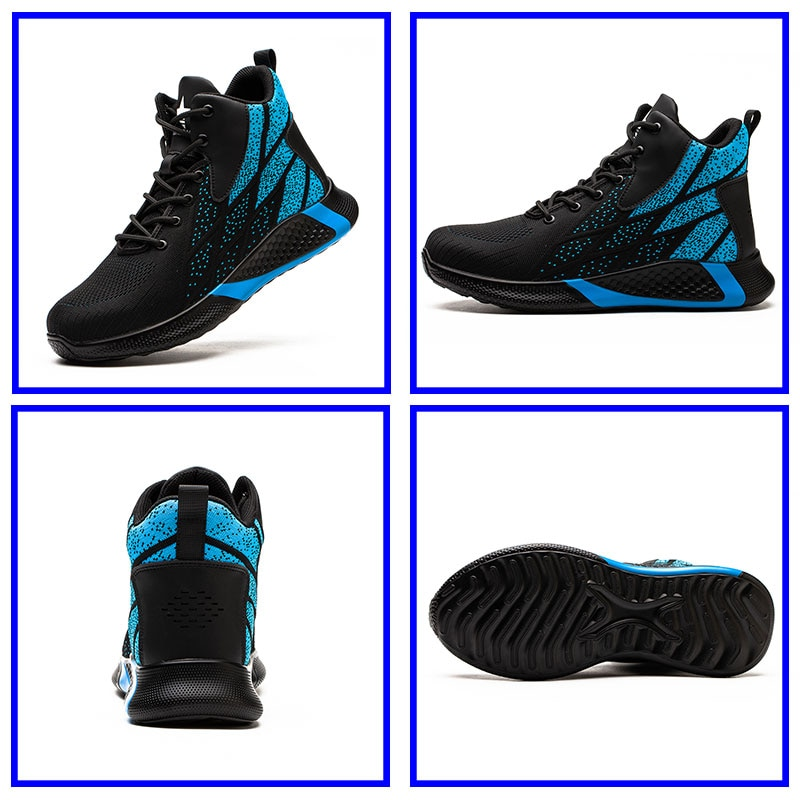 SUADEEX Work Boots Safety Steel Toe Shoes Men Breathable Sneakers Shoes Ankle Hiking Boots Anti-Piercing Protective Footwear 3