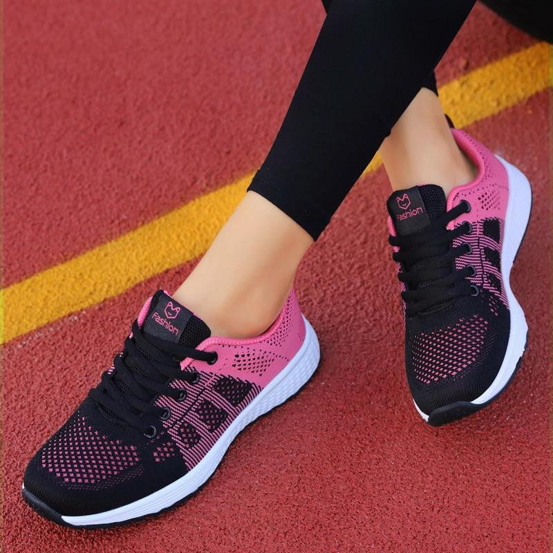 Flat Lace-Up Mesh Light Breathable Women Shoes  4