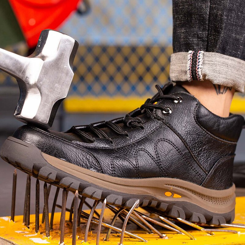 Indestructible Work Boots Safety Steel Toe Shoes Men Outdoor Work Shoes Puncture-Proof Safety Shoes Men Winter Shoes Men Boots 6