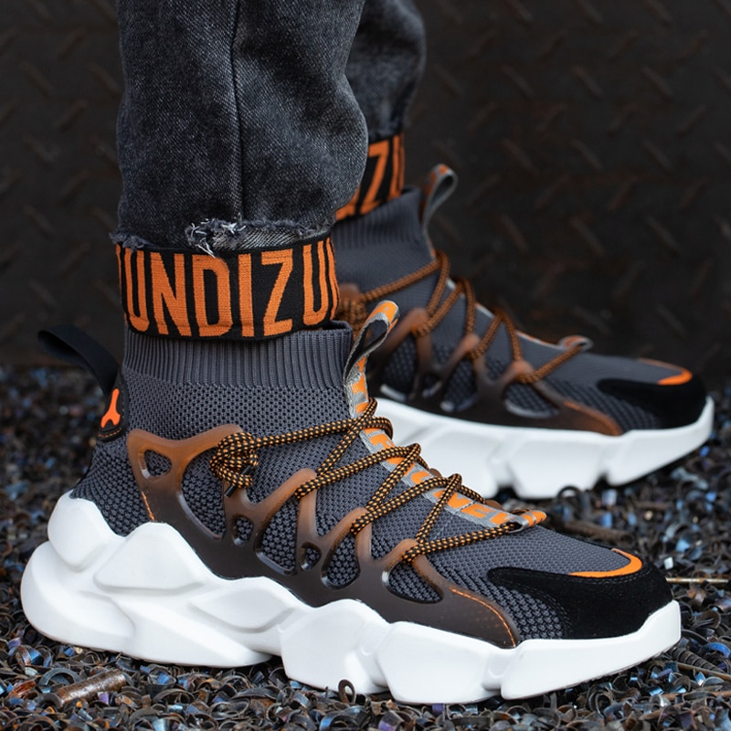New Safety Shoes Men Indestructible Sneakers Socks Shoes Work Boots Puncture Proof Work Sneakers Safety Boots Steel Toe Shoes 5