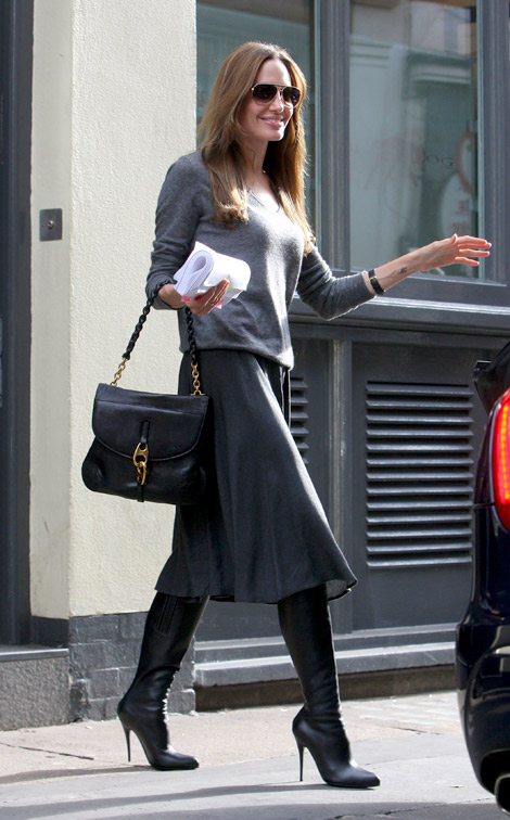 Angelina Jolie Keeps It Sassy And Sexy As She Goes