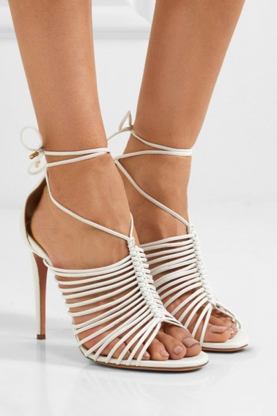 Wedge Sandals Strappy Tie Ankle