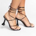 Sandália Feminina salto taça verão 2021 amarrações preta black shoes to love loja online calçados femininos tendencias (8)