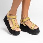 sandalia Feminina anabela plataforma flatform verão 2021 solado preto cabedal gorgurão amarelo shoes to love loja online calçados femininos tendencias (74)
