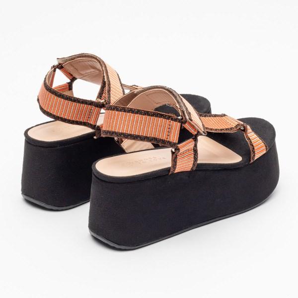 sandalia-feminina-anabela-plataforma-flatform-verão-2021-solado-preto-cabedal-gorgurão-laranja-shoes-to-love-loja-online-calçados-femininos-tendencias