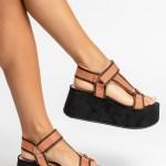 sandalia feminina anabela plataforma flatform verão 2021 solado preto cabedal gorgurão laranja shoes to love loja online calçados femininos tendencias (21)
