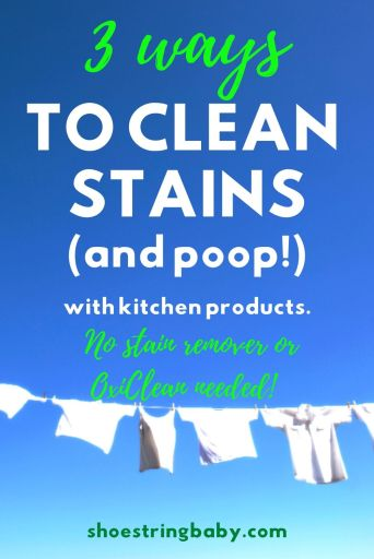 DIY stain remover recipes with household products like baking soda and vinegar