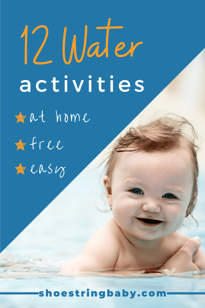 12 water play activities that are free and easy to do at home.