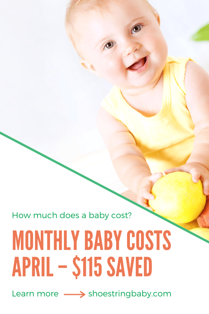 Monthly baby expenses for April