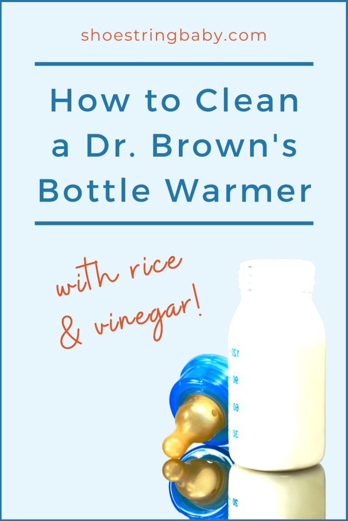 how to clean a dr. brown's bottle warmer with rice and vinegar