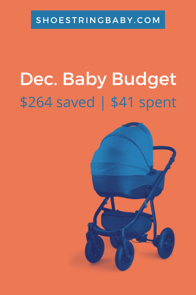 Monthly Baby Budget for December