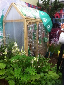A greenhouse made from plastic bottles - ingenious!