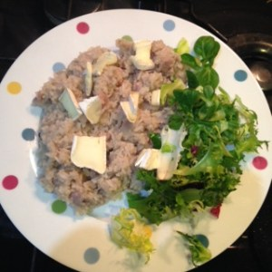 brie and bacon risotto
