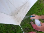 Using vinegar to treat mould on my canvas tent