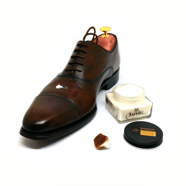 saphir renovateur leather cleaner conditioner shoe