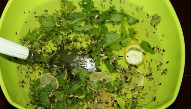 البخار المنزلي للوجه بخلاصة النعناع والشاي الأخضر