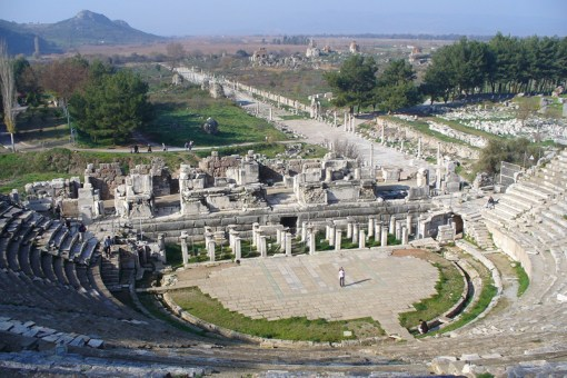 The ancient theater in Ephesus.