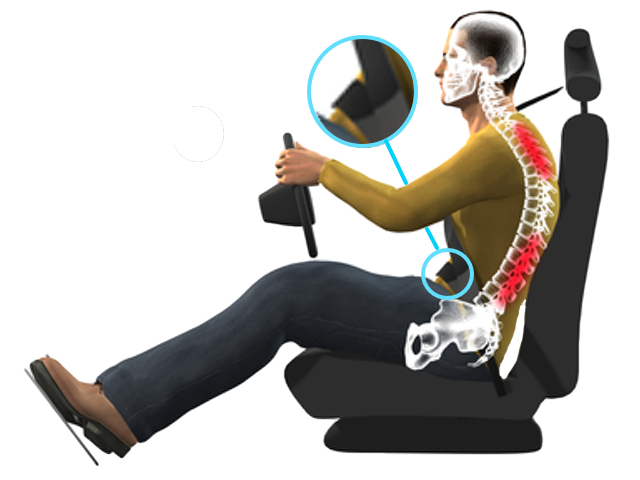 a common situation - spine in a 'crab' position with strain on back muscles