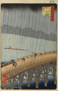 Sudden Shower Over Shin-Ohashi Bridge and Atake by Utagawa Hiroshige