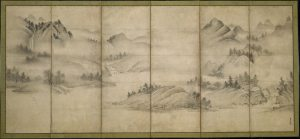 Landscape of the Four Seasons by Sōami