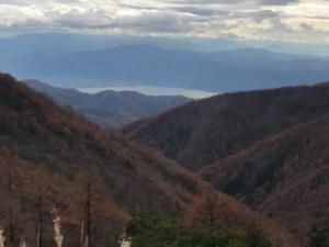 諏訪湖が見える地点