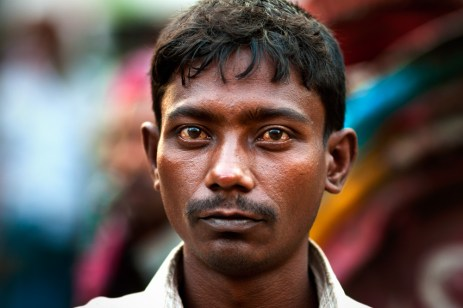 A day laborer in Farashganj, Dhaka, Bangladesh.