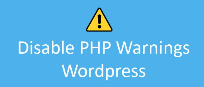 Disable or hide php warnings in wordpress