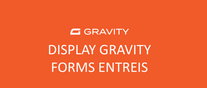 Display gravity forms entries in a template without plugin