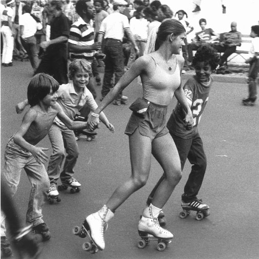 Dancing on quads in mid-70's
