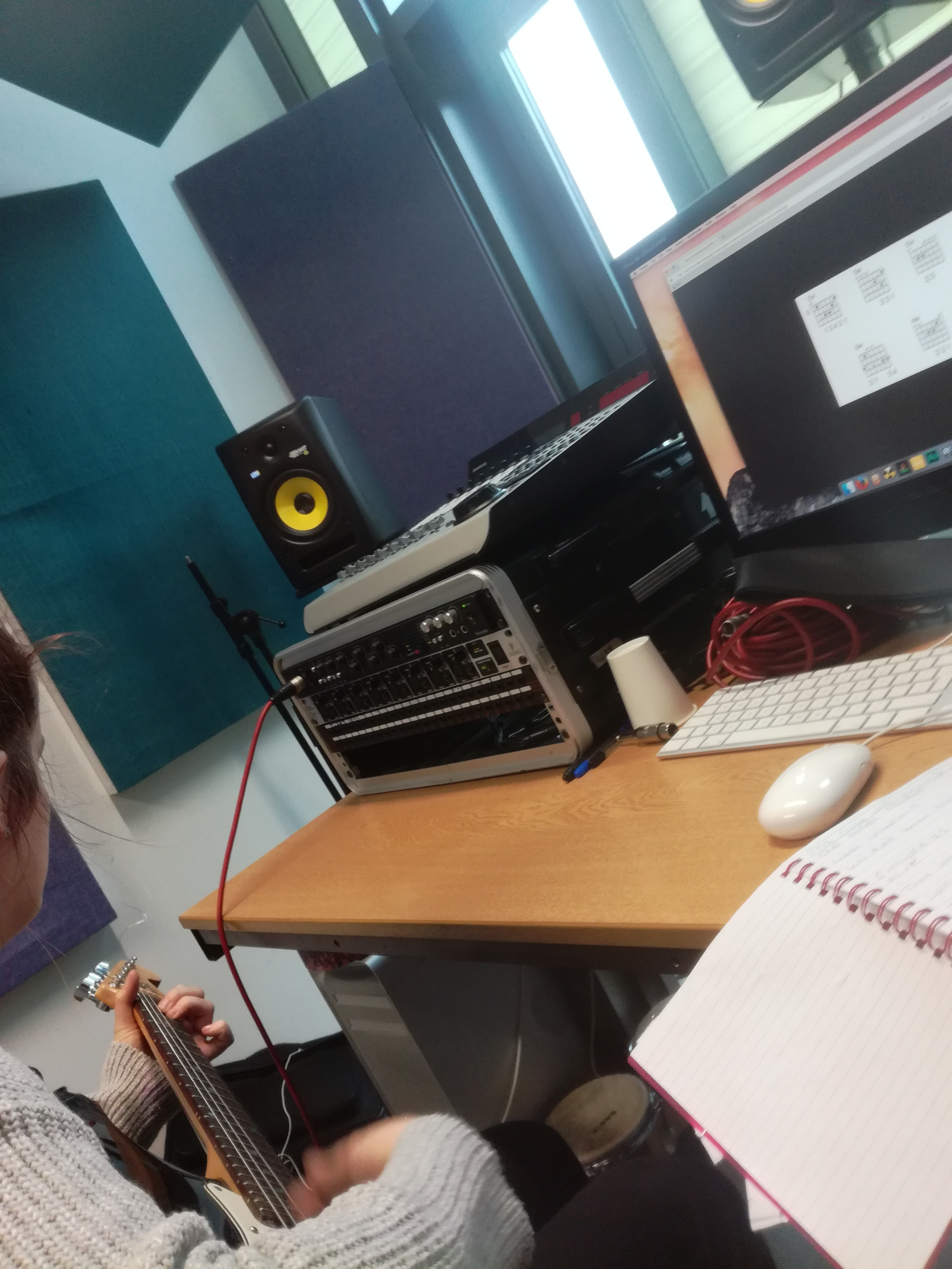 Recording Song Writing Session 08 11 17 Myself And