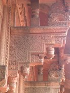 Stone corbel in Hindu architectural style