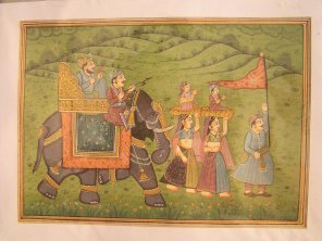 Miniature art of a royal procession