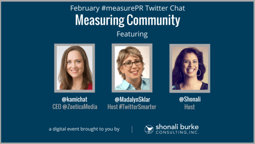 promotional image for the February 2018 #measurepr Twitter chat