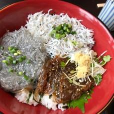 「藤浪」@江の島 のしらす三品丼