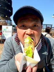 湘南バーガー@江ノ島:えのすぱ名物のしらす&さつま揚げバーガー