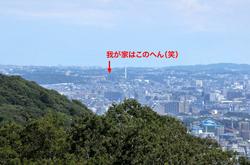 平塚湘南平のレストハウス展望台からの藤沢市街