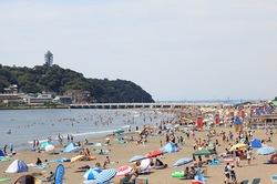 湘南・鎌倉の海水浴場:片瀬東浜海水浴場